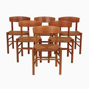 Vintage J39 Esszimmerstühle aus Buchenholz von Børge Mogensen für Fredericia, 6er Set