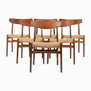 Scandinavian CH23 Dining Chair in Oak by Hans Wegner for Carl Hansen & Søn, 1950s, Set of 6