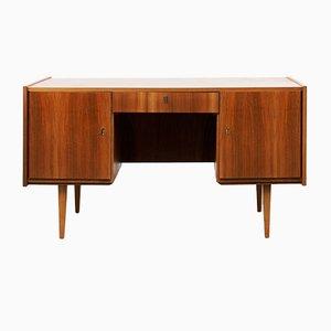 Schreibtisch mit Nussholz Furner, 1950er