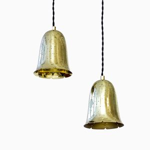 Bell Shaped Brass Pendant Lamp by Boréns, 1960s