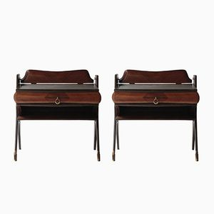 Bedside Tables in Rosewood, 1950s, Set of 2