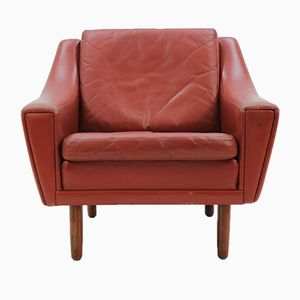 Dänischer Mid-Century Sessel aus Leder & Palisander, 1960er
