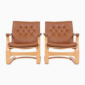 Dänische Vintage Sessel von Svend Skipper, 2er Set