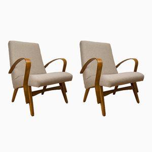 Grey Czech Armchairs, 1960s, Set of 2