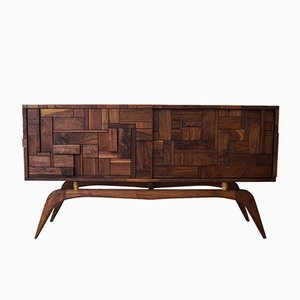 Cubic Walnut Sideboard by John Alfredo Harris