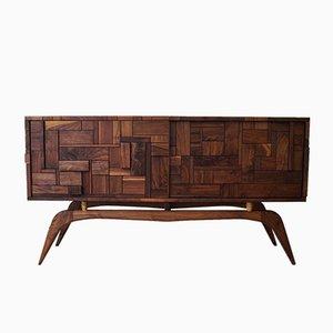 Kubisches Walnuss Sideboard von John Alfredo Harris