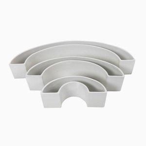 Tremiti Tondo Ceramics by Angelo Mangiarotti for Danese, 1964, Set of 3