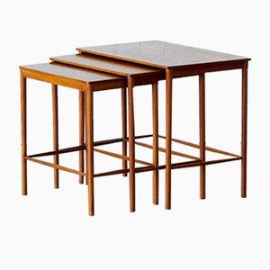 Table Gigogne Scandinaves en Teck par Grete Jalk for P. Jeppesens Møbelsnedkeri, 1970s