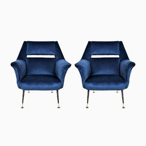 Italian Armchairs by Gigi Radice for Minotti, 1950s, Set of 2