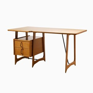 French Oak Desk, 1950s