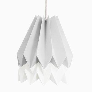 Lampe Origami PLUS Gris Clair avec Bande Blanc Polair par Orikomi