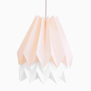Lampe Origami PLUS Rose Pastel avec Bande Blanc Polair par Orikomi
