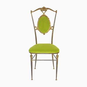 Chiavari Brass Side Chair, 1950s