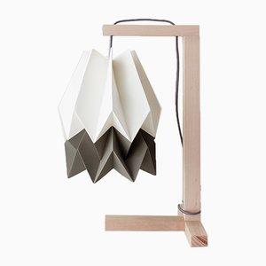 Tischlampe in Polar White mit Streifen in Alpine Grey von Orikomi