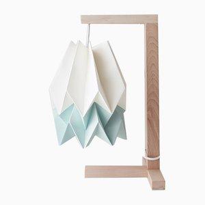 Tischlampe in Polar White mit Streifen in Mint Blue von Orikomi