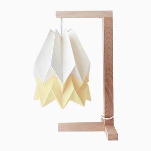 Lampada da tavolo bianca e gialla di Orikomi
