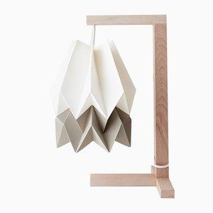 Table de Bureau Blanc Polaire avec une Bande Taupe Clair par Orikomi