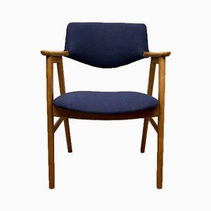 Armlehnstuhl aus Eichenholz von Erik Kirkegaard für Høng Stolefabrik, 1960er