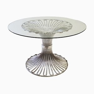 Glass Dining Table by Gastone Rinaldi for Rima, 1970s