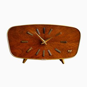 Vintage German Wooden Clock from Weimar, 1950s