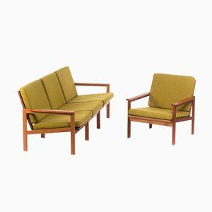 Sofa & Chair by Illum Wikkelsø for N. Eilersen, 1950s