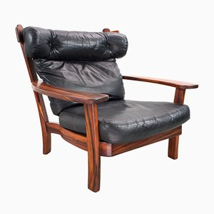 Model Ox Rosewood Armchair by Sergio Rodrigues, 1960s