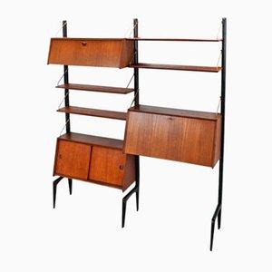 Libreria modulare in teak di Louis van Teeffelen per WéBé, anni '50