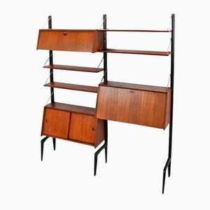 Modular Teak Wall Unit by Louis van Teeffelen for WéBé, 1950s