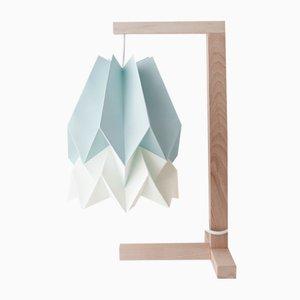 Lampe de Bureau Bleu Menthe avec Bande Blanc Polair par Orikomi