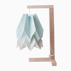 Lampe de Bureau Bleu Menthe avec Bande Gris Clair par Orikomi