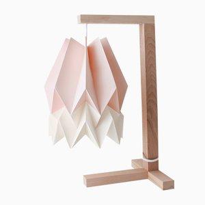 Lampe de Bureau Rose Pastel avec Bande Blanc Polair par Orikomi