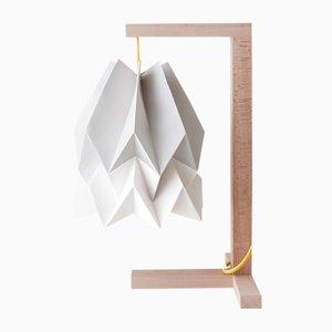 Lampe de Bureau Gris Clair avec Bande Blanc Polair par Orikomi