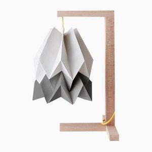Lampe de Bureau Gris Clair avec Bande Gris Alpin par Orikomi