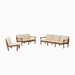 Modulare Sitzgruppe von Illum Wikkelso für Niels Eilersen, 1960er