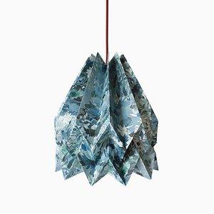 Lampe Origami Sunflower Bleue par Orikomi