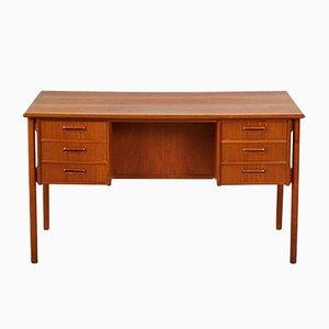 Dänischer Teak Schreibtisch mit abschließbarem Fach, 1960er