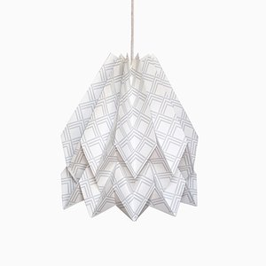 Kayapó Light Grey Origami Lamp by Orikomi