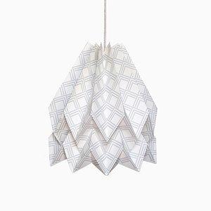 Lampe Origami Kayapó Gris Clair par Orikomi