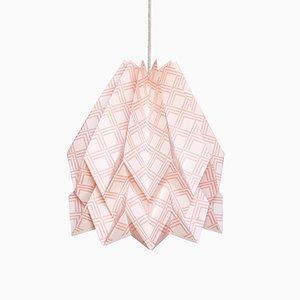 Lampada Origami Kayapò rosa pastello di Orikomi