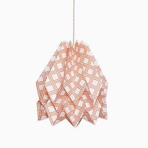 Lampe Origami Kayapó Terracotta par Orikomi