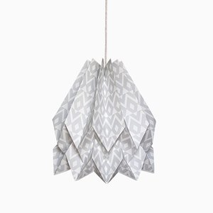 Tupi hellgraue Origami Lampe von Orikomi