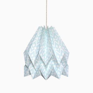 Tupi Mint Blue Origami Lamp by Orikomi