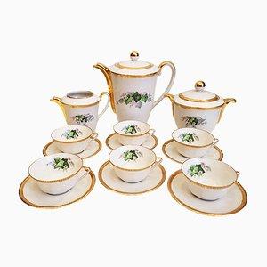 Limoges Porcelain Coffee Service from La Seynie, 1950s