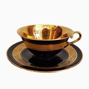 Tasse à Thé et Soucoupe Vintage en Porcelaine de Limoges de Legle