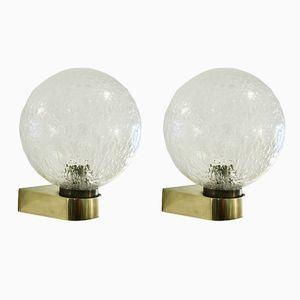 Messing Wandlampen, 1960er, 2er Set