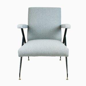 Italian Mid-Century Adjustable Lounge Chair