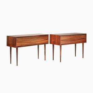 Vintage Rosewood Nightstands by Niels Clausen for Nc Mobler, 1960s, Set of 2