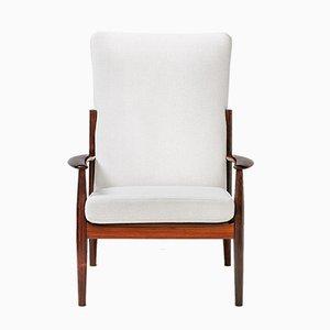Vintage High Back Lounge Chair by Grete Jalk for France & Søn, 1960s