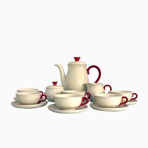 17-teiliges Steingut Kaffeeservice von Annaburg Porzellan