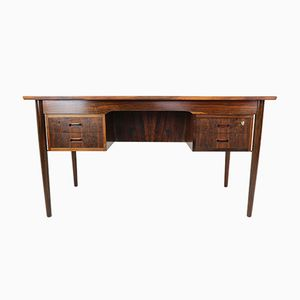 Danish Rosewood Writing Desk with Bookshelf, 1960s